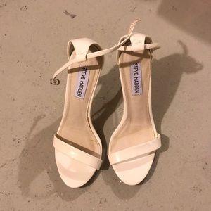 STEVE MADDEN White Strappy Heels